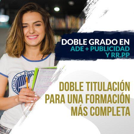Doble Grado en ADE + Publicidad y Relaciones Públicas
